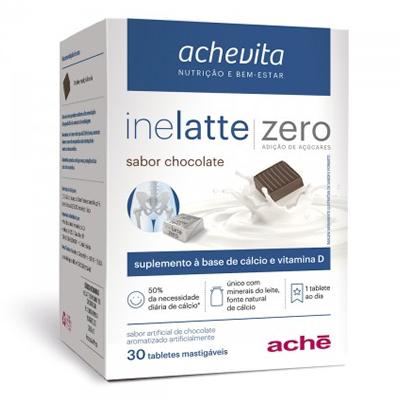 Inelatte Sabor Chocolate Zero Açúcar com 30 Tabletes