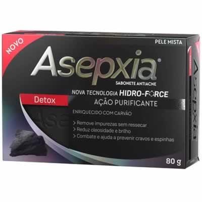 Asepxia Sabonete Detox com 80g