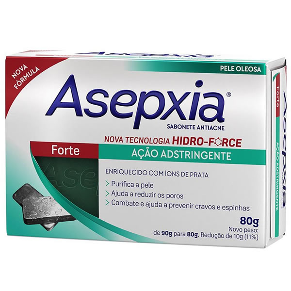 Asepxia Sabonete Forte com 80g