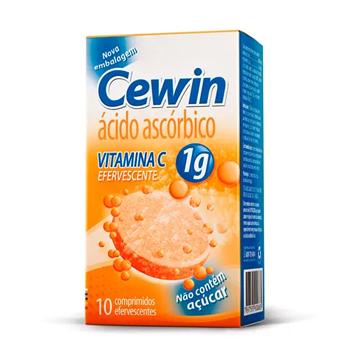 Cewin 1g Sabor Laranja com 10 Comprimidos