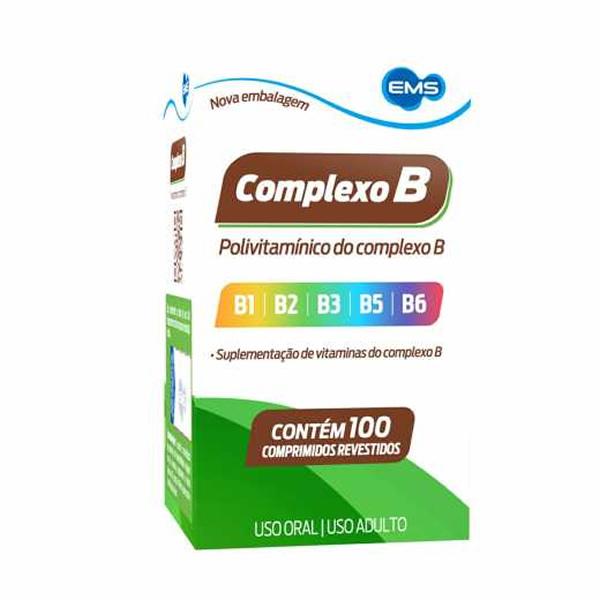 Complexo B com 100 Comprimidos