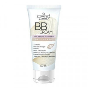 BB Cream Facial Flor e Vegetais FPS30 Bege Claro Com 50ml