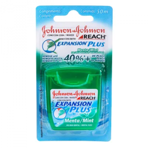 Fio Dental Johnson & Johnson Expansion Plus Sabor Menta com 50m