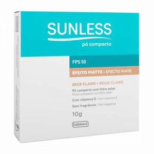 Sunless Pó Compacto FPS 50 Bege Claro 10g