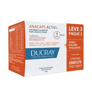 Ducray Anacaps Activ com 90 Cápsulas