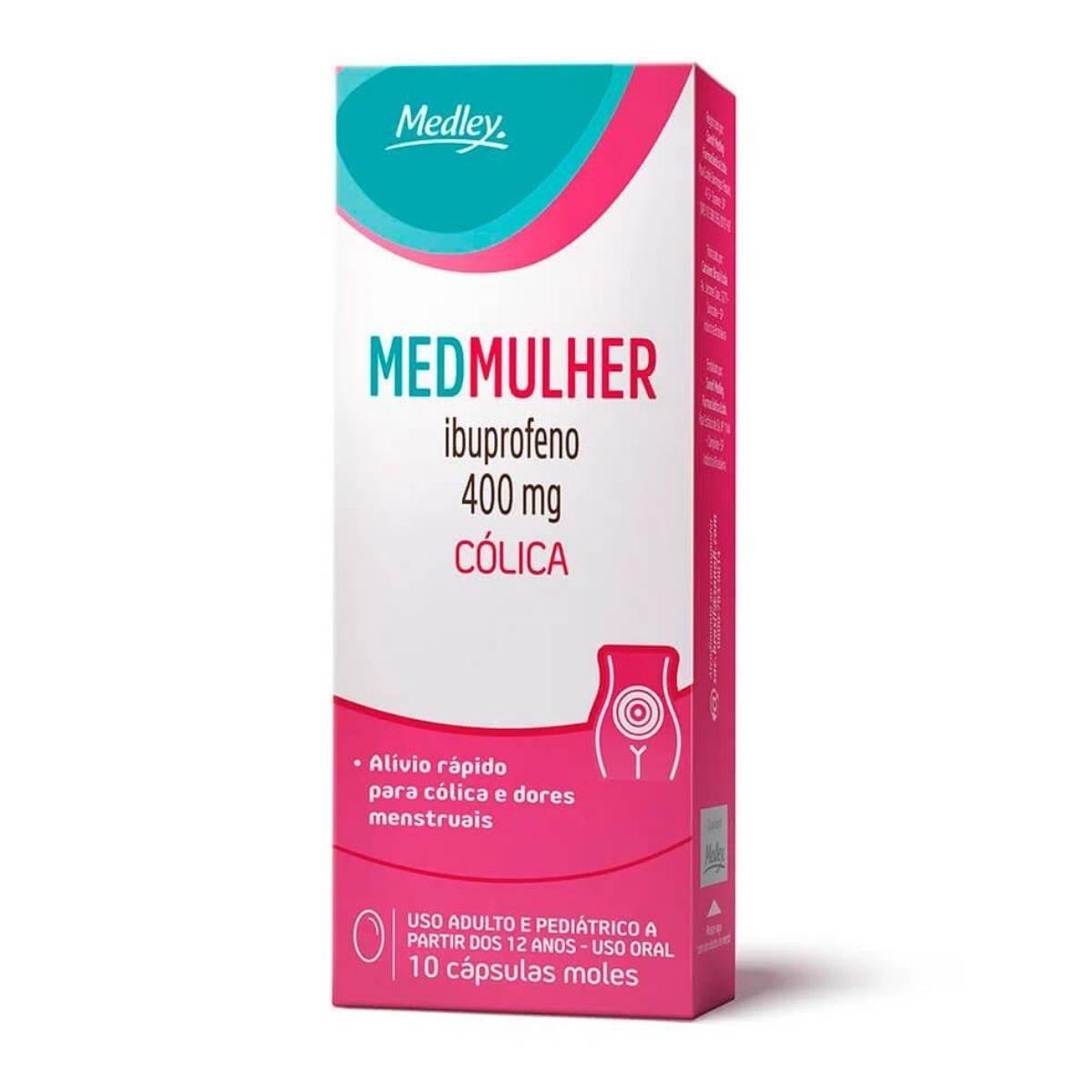 Medmulher 400mg com 10 cápsulas