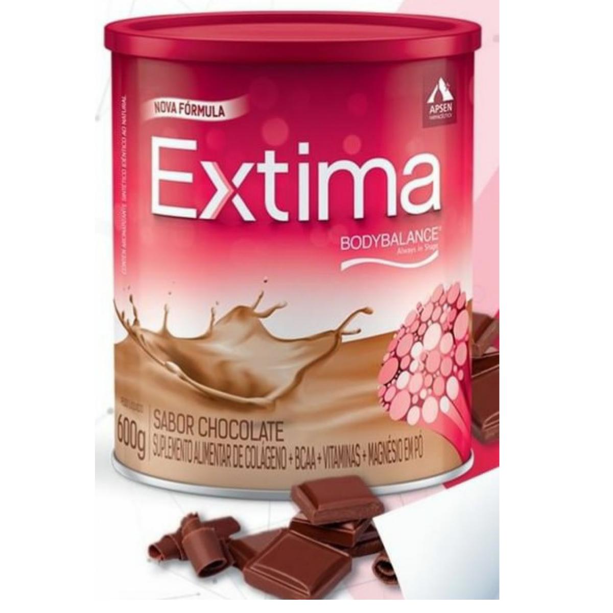 Extima lata sabor chocolate com 600g