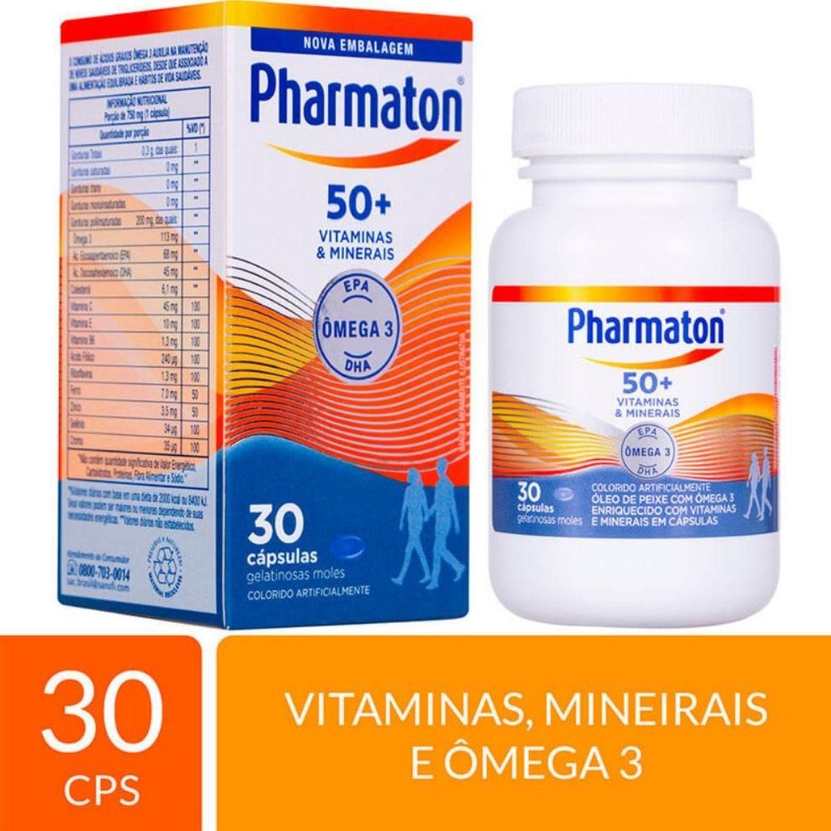 Pharmaton 50+ anos com 30 cápsulas