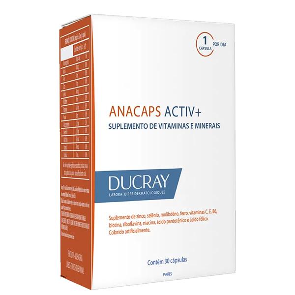 Ducray Anacaps Activ com 30 Cápsulas