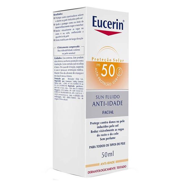Eucerin Sun Fluido Anti-Idade FPS50 co...