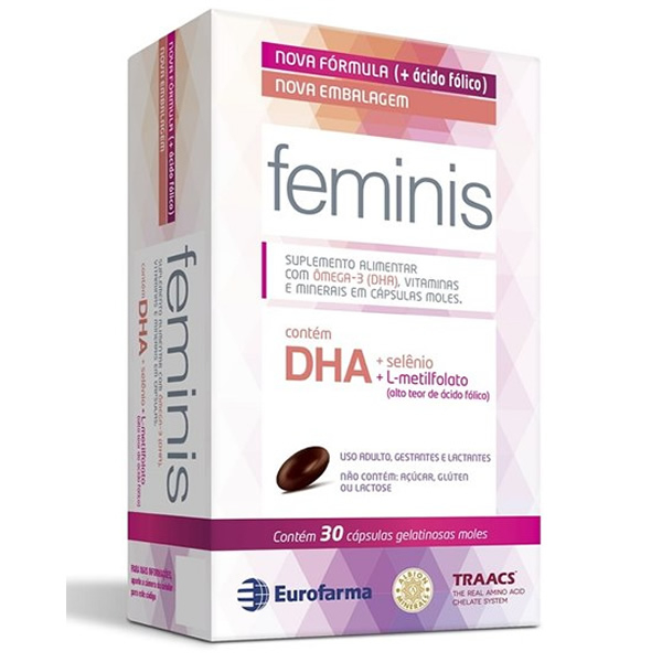 Feminis com 30 Cápsulas (+Ácido Fólico)