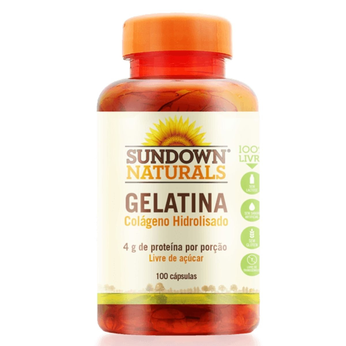 Gelatina Sundown com 100 cápsulas