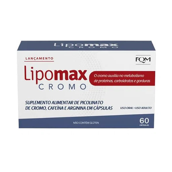 Lipomax Cromo com 60 cápsulas