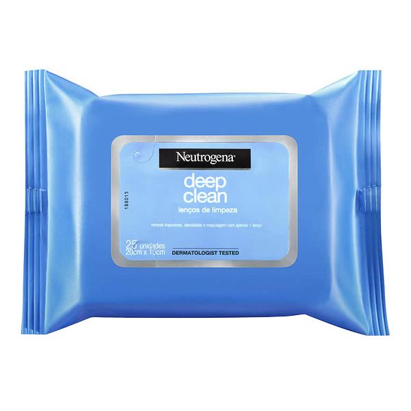 Neutrogena Deep Clean Lenços de Limpeza com 25 unidades