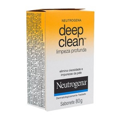 Neutrogena Deep Clean Sabonete Facial Limpeza Profunda com 80g