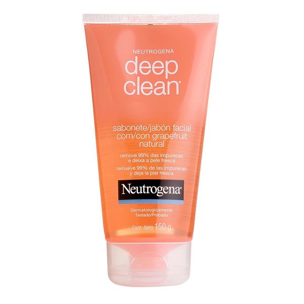 Neutrogena Deep Clean Sabonete Facial Grapefruit com 150g