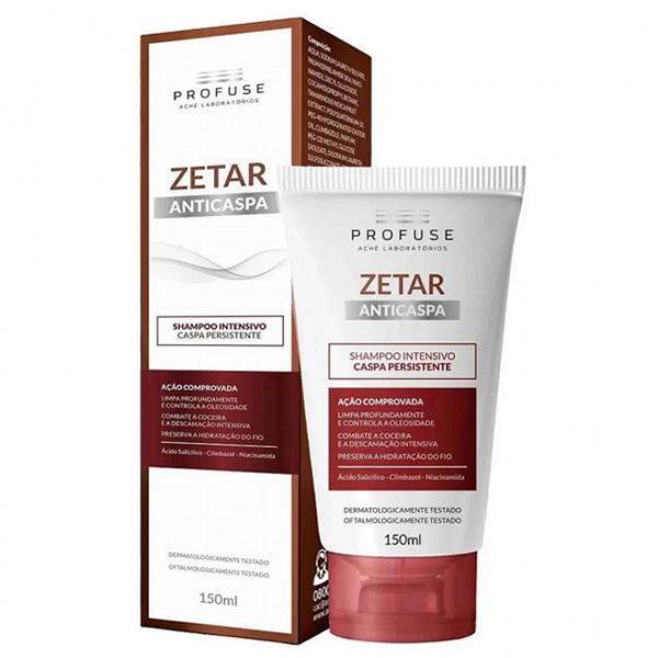 Profuse Zetar Shampoo Anticaspa Intensivo com 150ml