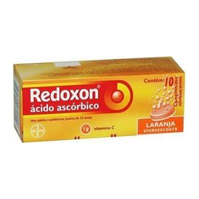 Redoxon 1g Laranja com 10 Comprimidos Efervescentes