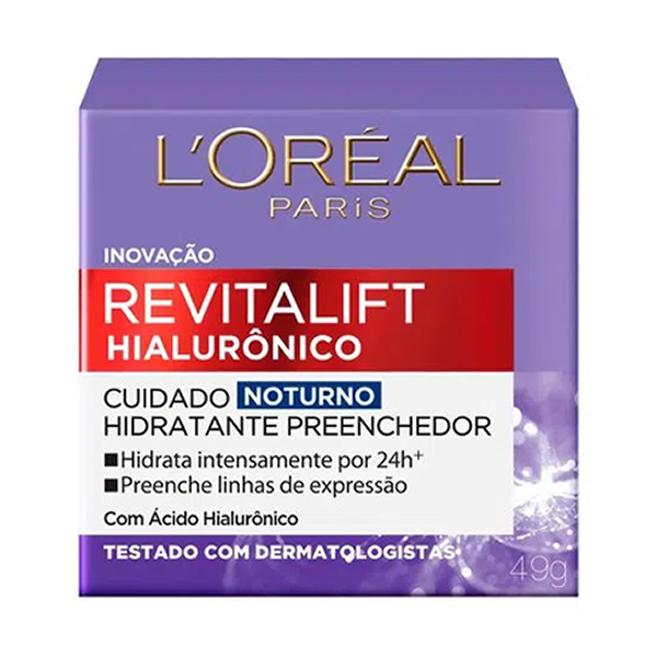 Revitalift Hialurônico Hidratante Noturno com 49g