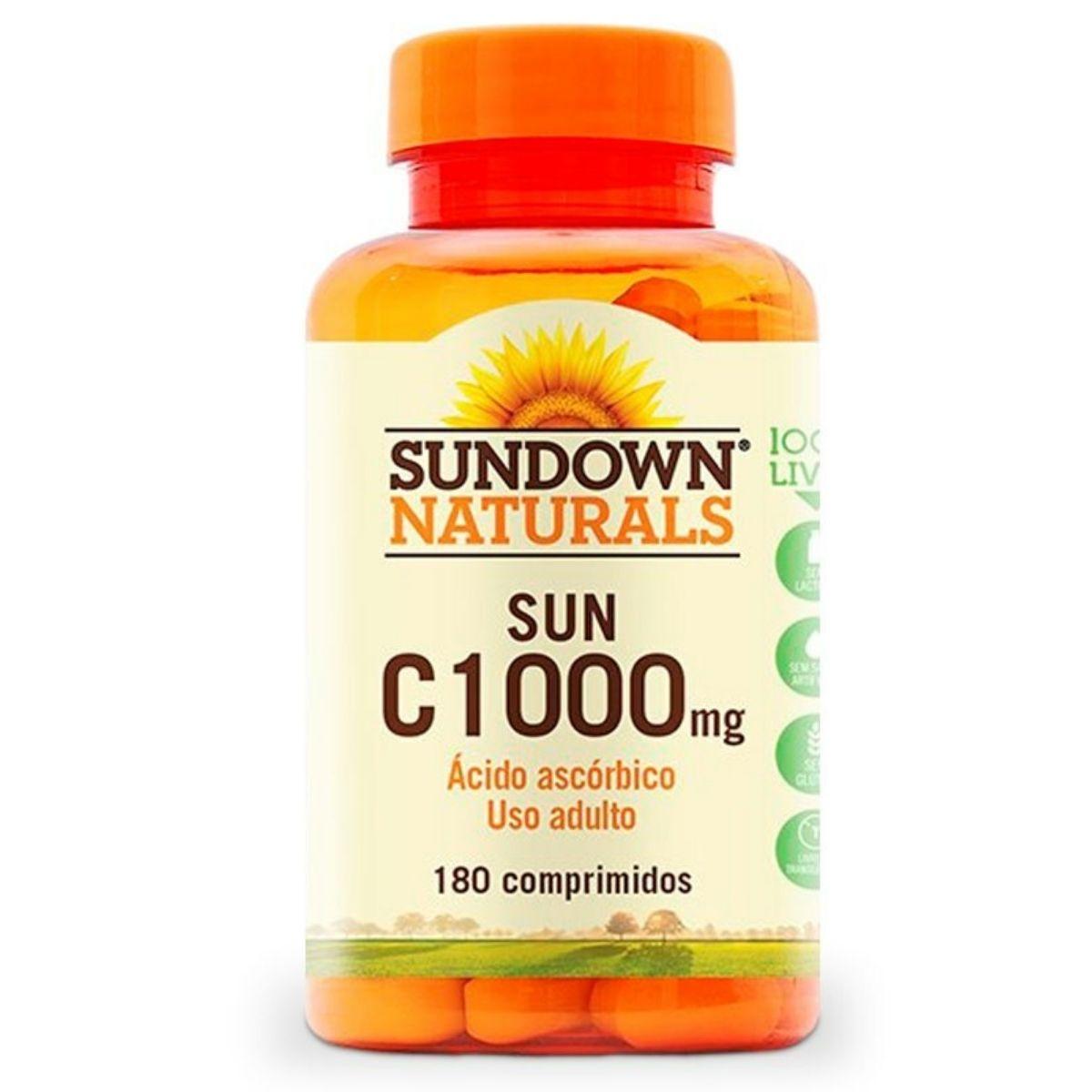 Vitamina C 1000mg Sundown com 180 cápsulas