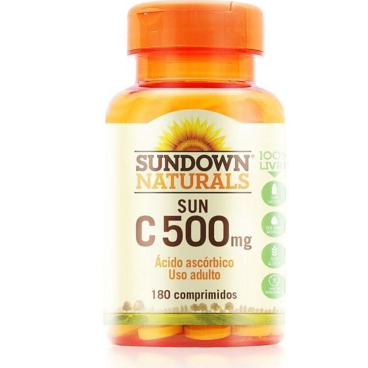 Vitamina C Sundown 500mg com 180 comprimidos