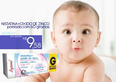 NISTATINA+OXIDO DE ZINCO pomada com 60 gramas