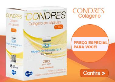 CONDRES Colágeno 40mg com 60 Cápsulas
